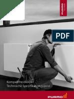 Technische Spezifikation Purmo Kompaktheizkörper 1-2010