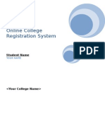 Online College Registration System Sample Documentation
