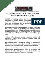 Media Car Wash for Cancer Yakusanya Milioni 31 Kusaidia Waandishi