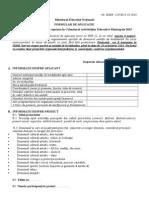 Formular de Aplicare Proiecte