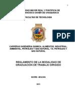 Reglamento de La Modalida d de Graduación de Trabajo Dirigido