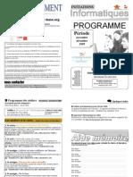 Programme Novembre Decembre 2009