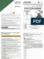 Programme Janvier Fevrier 2010