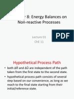 Lecture 01 Energy Balances No Reaction