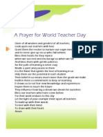 Prayer for Teachers