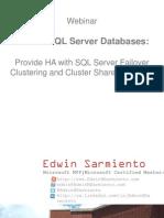 Critical SQL Server Databases