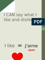 likes-dislikes vocab ppt