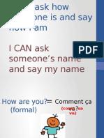 names and pleasantries vocab ppt