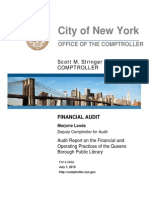Audit Report on the Financial and Operating Practices of the Queens Borough Public Library