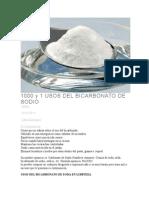 1000 y 1 Usos Del Bicarbonato de Sodio