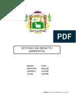 Evaluacion Del Impacto Ambiental Ayaviri MEJORAMIENTO AGUA Y DESAGUE