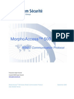 MorphoAccess 500 Series RS422 Communication Protocol