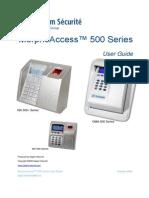 MorphoAccess 500 Series User Guide