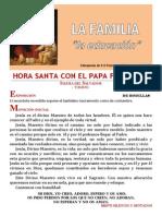 HORA SANTA CON EL PAPA. La Familia. La Educación de los hijos (16)