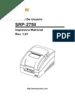 Manual Srp-275ii User Spanish Rev 1 01