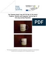 our comenius project mug with the logo of the project