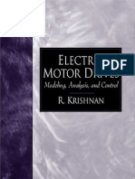 Electric Motor Drives - Modeling, Analysis, And Control, 2001, R. Krishnan