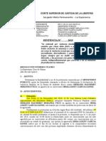 Sentencia Exp. Nº 725-2014 VIOLENCIA FAMILIAR