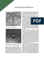 Electron Backscatter Diffraction
