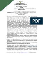 Resolución de Apertura invitación publica 02-2015