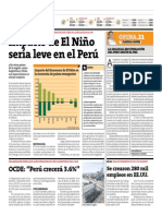 Peru 21 - 06-06-2015 - El niño podría no ser tan fuerte.pdf