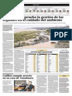 El Comercio - 08-07-2015 - El OEFA desaprueba la gestiòn de las regiones en el cuidado del medio ambiente.pdf