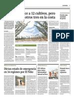 Gestión - 06-07-2015 - El Niño favorece a 12 cultivos, pero causa daños a otros 3 en la costa.pdf