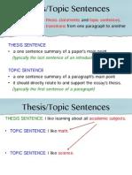 mtel-topic sentence