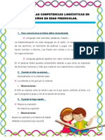 Guia Sobre Las Competencias Lingûisticas en Los Niños en Edad Preescolar