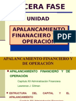 Apalancamiento Financiero y de Operacion VI, VII UNIDAD