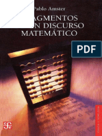 Fragmentos de Un Discurso Matemático Pablo Amster