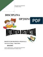 Cds a III a Matematica Distractiva