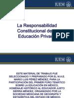La Responsabilidad Constitucional de La Educación Privada