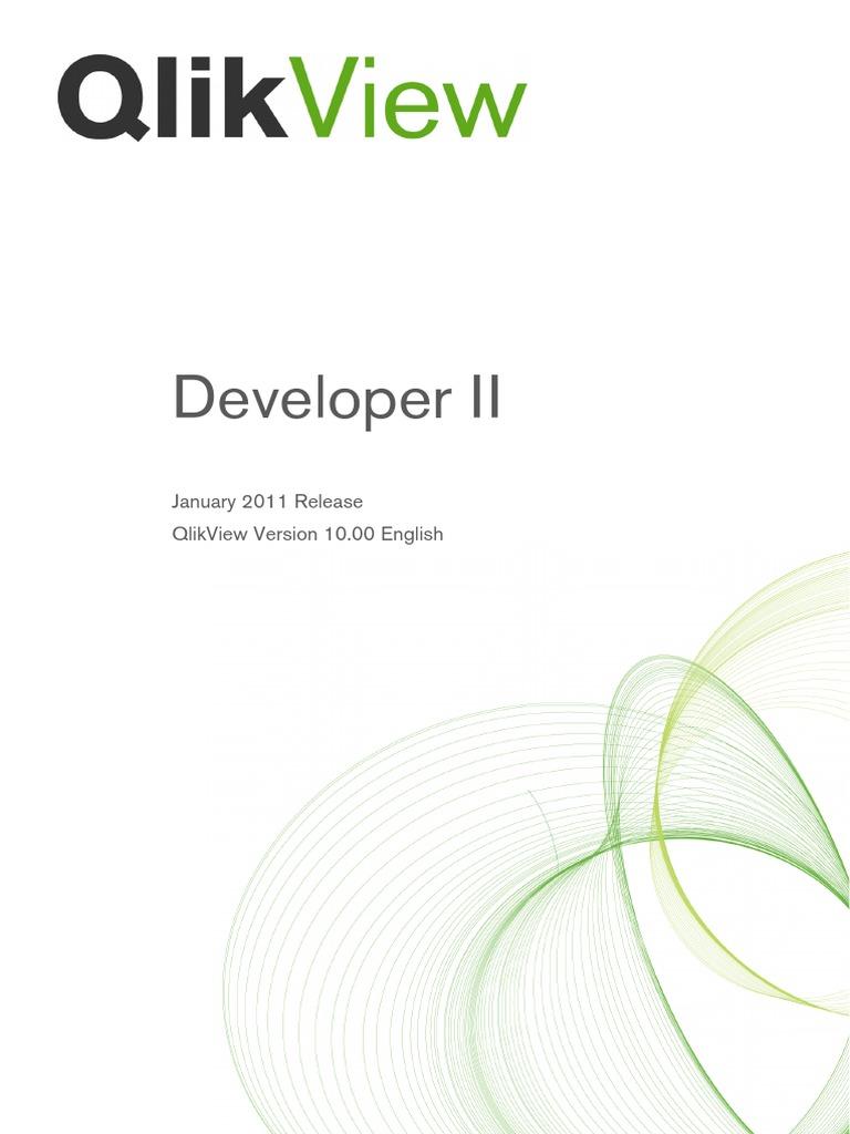 Qv Developer Ii Course Qv10 Print Microsoft Windows Microsoft Excel