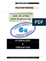 Gate Ies Postal Studymaterial for Hydrology and Irrigation Civil