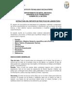 Estructura Del Reporte de Practica