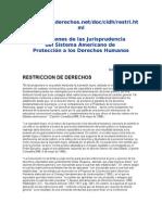 Restricción a Los Derechos Fundamentales