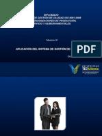 Aplicación Del Sistema de Gestión de La Calidad.