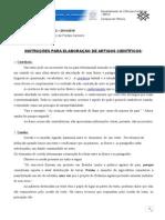 Instruções Para Artigos Acadêmicos 2015