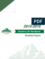 Boarding Program Student Life Handbook 2015-2016