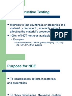 Introduction to Non Destructive Testing(NDT) | Radiography