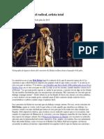 Bob Dylan Actitud Radical Artista Total