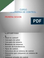 Curso Ingenieria de Control Primera Sesion i