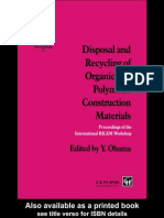 Y. Ohama Disposal and Recycling of Organic and Polymeric Construction Materials 1995