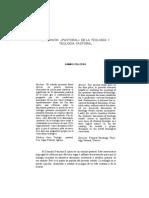 Dimensión Pastoral y Teología Pastoral