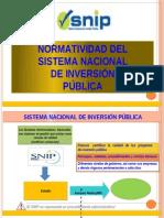 Normatividad Del SNIP MEF