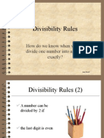 Divisibility Rules - PPT