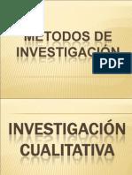 MÉTODOS DE INVESTIGACION