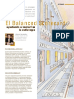 Articulo Sobre BSC, Por Alberto Fernandez IESE