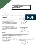 Guía Transformaciones Isométricas 8º Básico